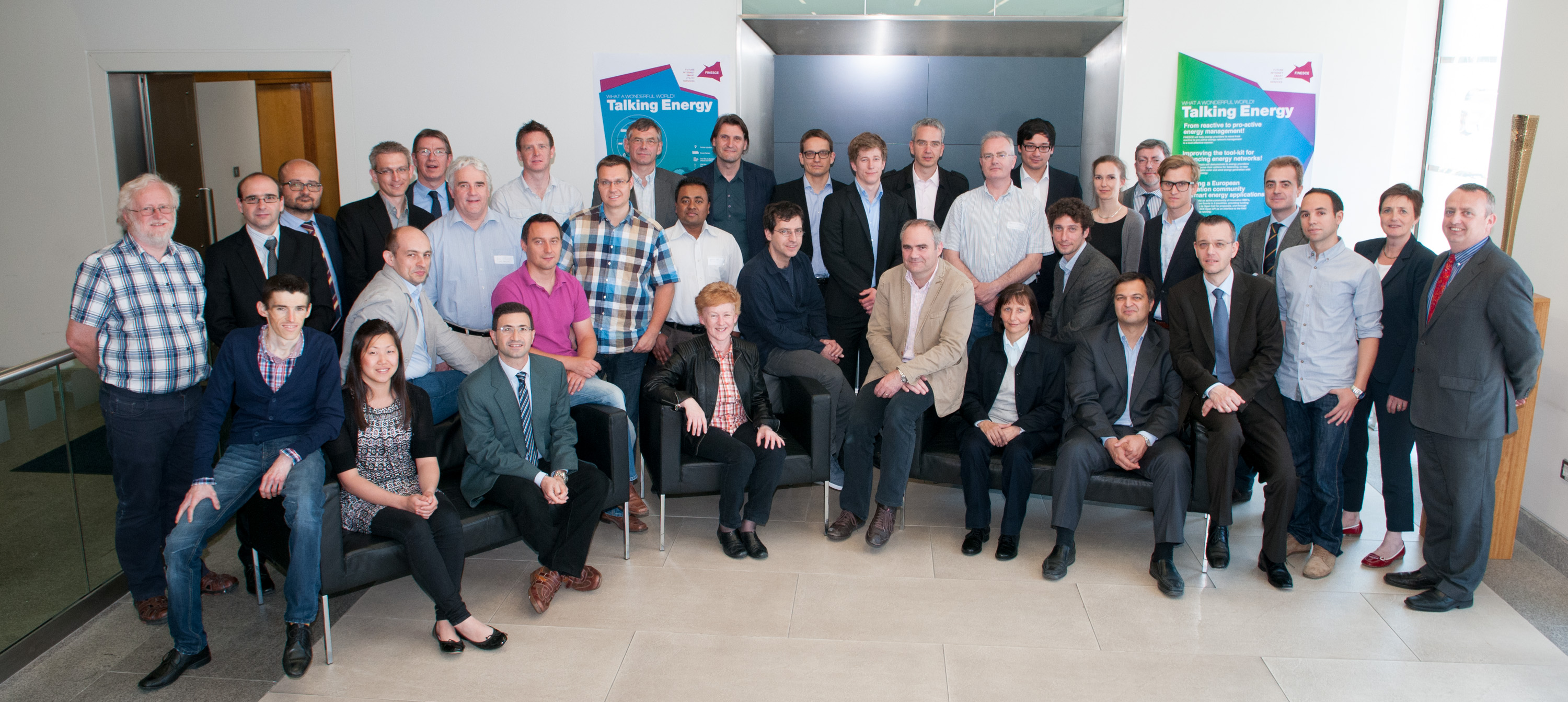 Photo of the FINESCE consortium partners at 2nd General Meeting June 2013 in Dublin